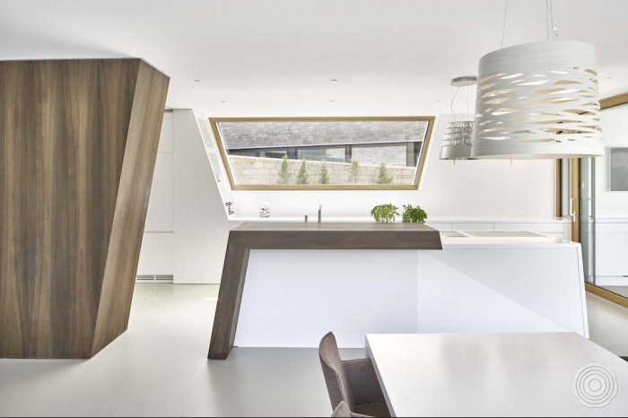 solid surface de keuken is naar een idee en ontwerp van de e