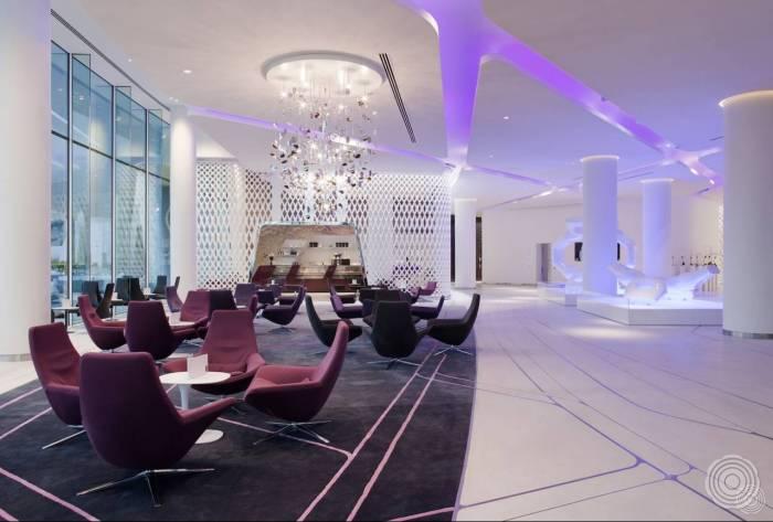 onderscheidende gietvloeren senso maakt naadloze hotelvloere