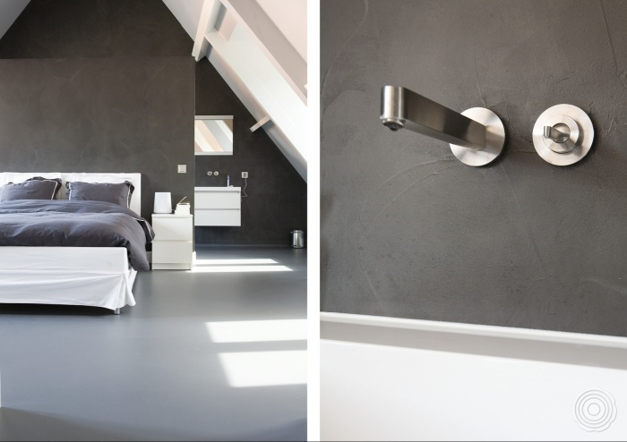 Senso gietvloeren badkamers senso gietvloer - Slaapkamer met kleedkamer en badkamer ...