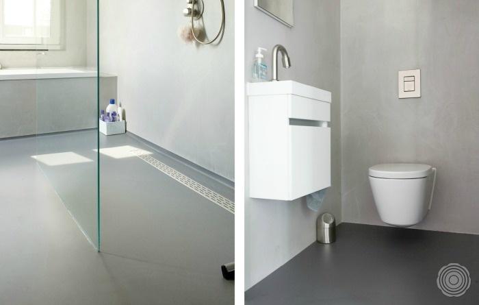 Praktisch Badkamer Gietvloer : Gietvloer op tegels